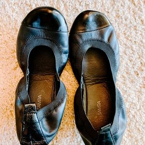 Yosi Samra Black Foldable Ballet Flats Shoes